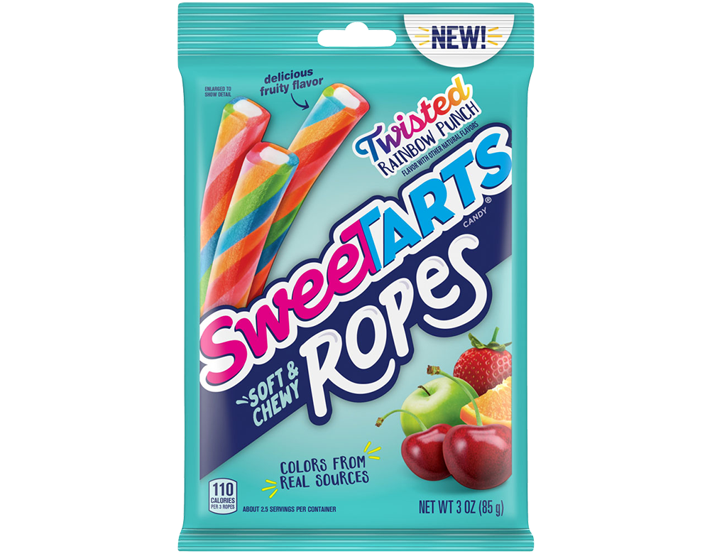 SweeTARTS Twisted Rainbow Ropes